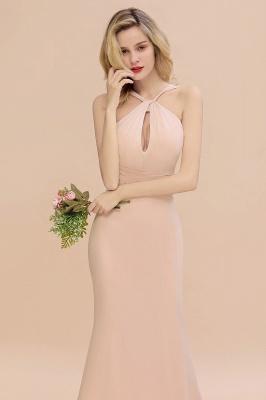 Peach Brautjungfernkleider Lang Chiffon | Kleider Für Brautjungfern_8