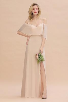 Champagne Brautjungfernkleider Lang Günstig | Kleider Für Brautjungfern_2