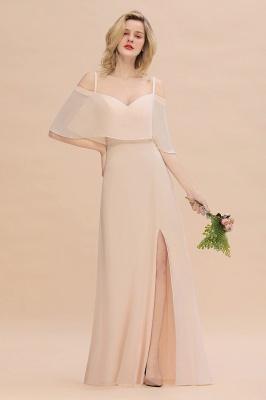 Champagne Brautjungfernkleider Lang Günstig | Kleider Für Brautjungfern_1