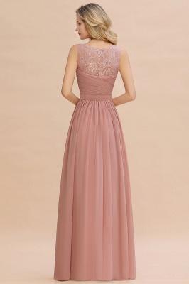 Schlichte Brautjungfernkleider Lang Chiffon | Rosa Kleid für Brautjungfern_15