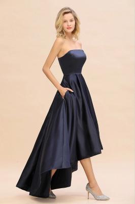 Schwarze Abendkleider Hi-lo | Schlichtes Abiballkleid Günstig_8