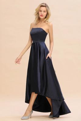 Schwarze Abendkleider Hi-lo | Schlichtes Abiballkleid Günstig_5