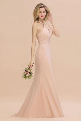 Peach Brautjungfernkleider Lang Chiffon | Kleider Für Brautjungfern_7