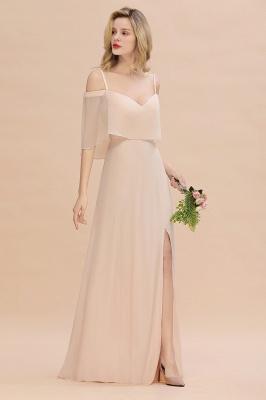 Champagne Brautjungfernkleider Lang Günstig | Kleider Für Brautjungfern_6