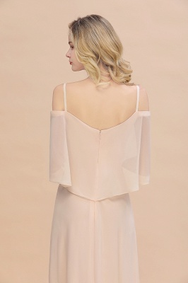 Champagne Brautjungfernkleider Lang Günstig | Kleider Für Brautjungfern_9