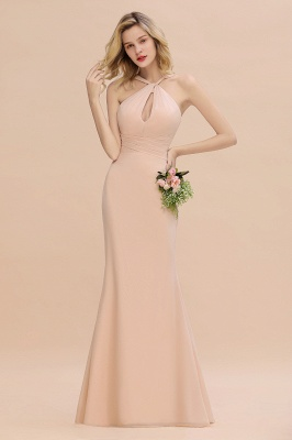 Peach Brautjungfernkleider Lang Chiffon | Kleider Für Brautjungfern_6