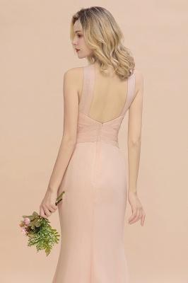 Peach Brautjungfernkleider Lang Chiffon | Kleider Für Brautjungfern_9