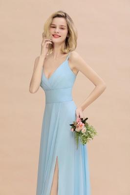 Blaue Brautjungfernkleider Lang Günstig | Kleider für Brautjungfern_8