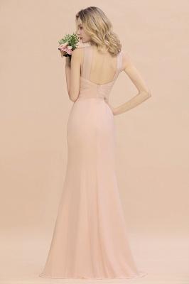 Peach Brautjungfernkleider Lang Chiffon | Kleider Für Brautjungfern_3