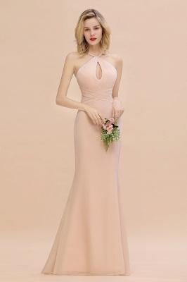 Peach Brautjungfernkleider Lang Chiffon | Kleider Für Brautjungfern_5