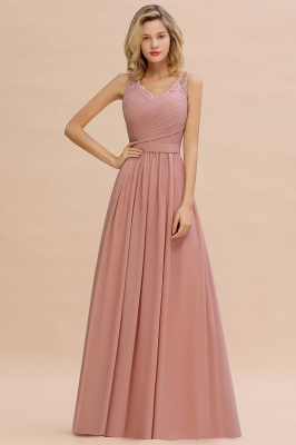 Simple bridesmaid dresses long chiffon | Pink dress for bridesmaids_12