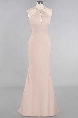 Peach Brautjungfernkleider Lang Chiffon | Kleider Für Brautjungfern_10