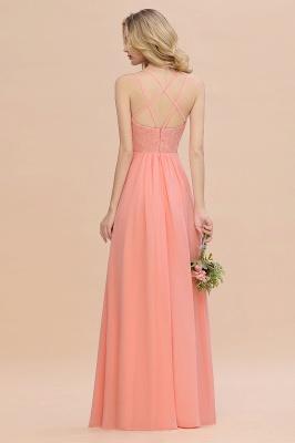 Coral Brautjungfernkleider Lang Günstig   Hochzeitsgäste Kleider_52