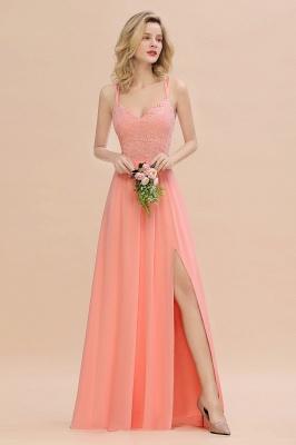Coral Brautjungfernkleider Lang Günstig   Hochzeitsgäste Kleider_55