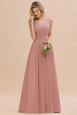 Simple bridesmaid dresses long chiffon | Pink dress for bridesmaids_13