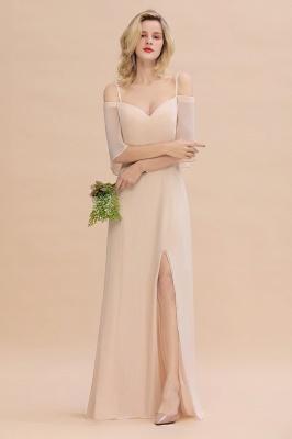 Champagne Brautjungfernkleider Lang Günstig | Kleider Für Brautjungfern_4