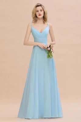 Blaue Brautjungfernkleider Lang Günstig | Kleider für Brautjungfern_4
