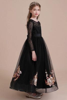 Flower girl festive dress wedding | Black flower girl dresses cheap_7