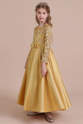 Gold Flower Girl Dresses Cheap | Flower girl dress long sleeve_5