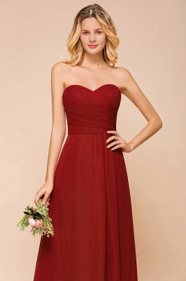 Brautjungfernkleider Lang Rot | Chiffon Kleider für Brautjungfern_9