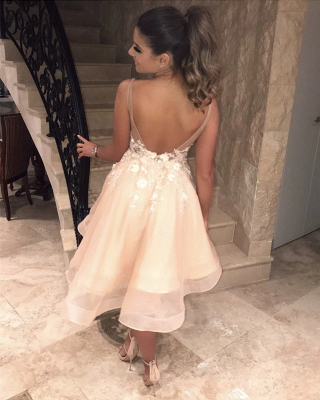 Beautiful cocktail dresses short | Mini prom dresses with lace_3