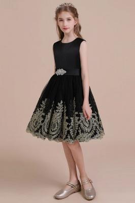 Black flower girl dresses cheap | Flower girl dress tulle_4