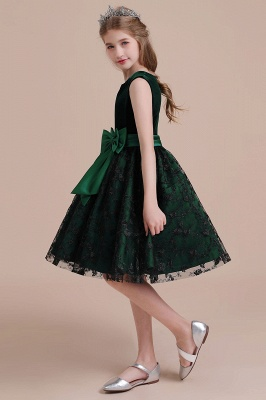 Girl flower girl dress green | Cheap flower girl dresses_5