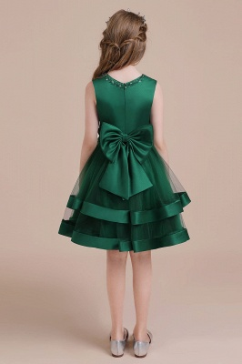 Grüne Blumenmädchenkleider Für Kind  | Blumenmädchen Kleid Lang_3