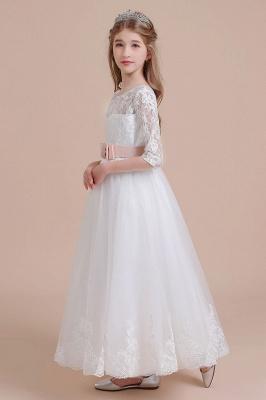 Blumenmädchen Kleid Langarm | Blumenmädchenkleider für Kinder Hochzeit_6