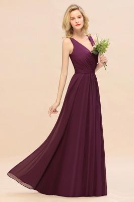 Purpur Brautjungfernkleider Lang Günstig   Hochzeitspartykleider Online_4
