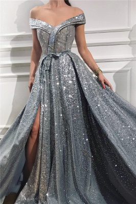 Silver Evening Dresses Long Cheap | Prom dresses evening wear online