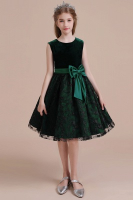 Girl flower girl dress green | Cheap flower girl dresses_1