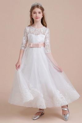 Blumenmädchen Kleid Langarm | Blumenmädchenkleider für Kinder Hochzeit_8