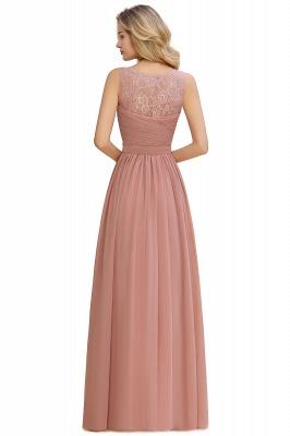 Schlichte Brautjungfernkleider Lang Chiffon | Rosa Kleid für Brautjungfern_16
