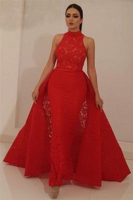 Schöne Abendkleider Lang Rot | Abiballkleider Spitze Günstig_1