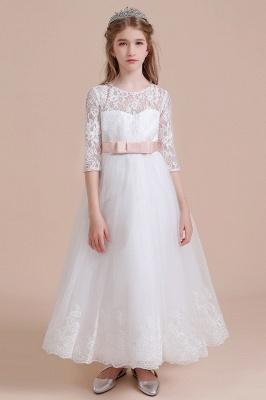 Blumenmädchen Kleid Langarm | Blumenmädchenkleider für Kinder Hochzeit_1