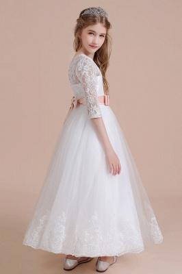 Blumenmädchen Kleid Langarm | Blumenmädchenkleider für Kinder Hochzeit_5