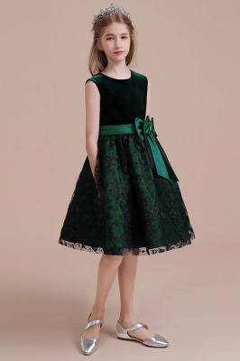 Girl flower girl dress green | Cheap flower girl dresses_7