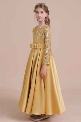 Gold Flower Girl Dresses Cheap | Flower girl dress long sleeve_6