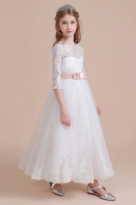 Blumenmädchen Kleid Langarm | Blumenmädchenkleider für Kinder Hochzeit_4