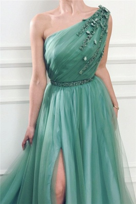 Simple prom dresses cheap | Evening dresses long green_2