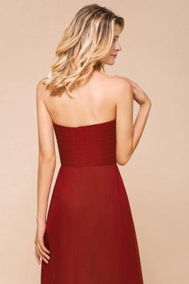 Brautjungfernkleider Lang Rot | Chiffon Kleider für Brautjungfern_8
