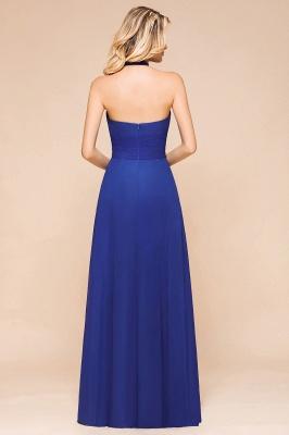 Känig Blau Brautjungfernkleider Lang Günstig   Hochzeitspartykleider Chiffon_3