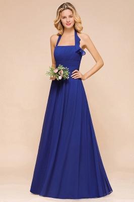 Känig Blau Brautjungfernkleider Lang Günstig   Hochzeitspartykleider Chiffon_7