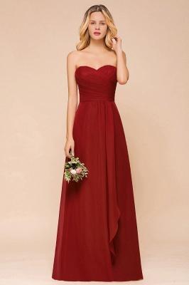 Brautjungfernkleider Lang Rot | Chiffon Kleider für Brautjungfern_4