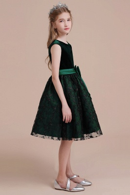 Girl flower girl dress green | Cheap flower girl dresses_6