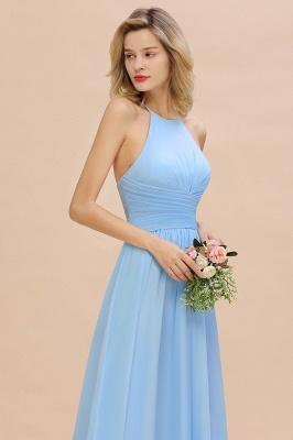 Brautjungfernkleider Lang Heller Blau | Kleider für Brautjungfern Günstig_9