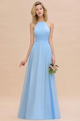 Brautjungfernkleider Lang Heller Blau | Kleider für Brautjungfern Günstig_7