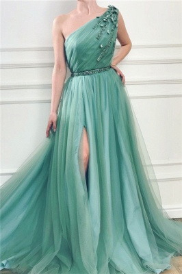 Simple prom dresses cheap | Evening dresses long green_1