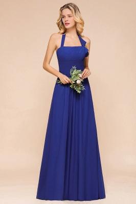 Känig Blau Brautjungfernkleider Lang Günstig   Hochzeitspartykleider Chiffon_6